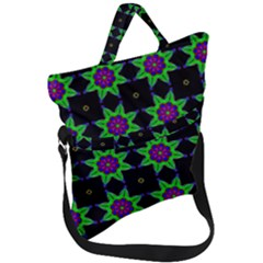 Seamless Wallpaper Pattern Fold Over Handle Tote Bag