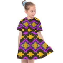Seamless Wallpaper Digital Pattern Yellow Brown Purple Kids  Sailor Dress by Pakrebo