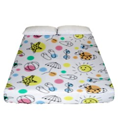 Summer Pattern Design Colorful Fitted Sheet (queen Size)