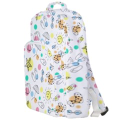 Summer Pattern Design Colorful Double Compartment Backpack