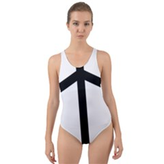 Grapevine Cross Cut-out Back One Piece Swimsuit by abbeyz71