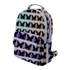 Seamless Wallpaper Butterfly Pattern Flap Pocket Backpack (large)