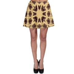 Seamless Pattern Ornament Skater Skirt by Pakrebo