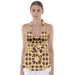 Seamless Pattern Ornament Babydoll Tankini Top
