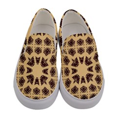 Seamless Pattern Ornament Women s Canvas Slip Ons