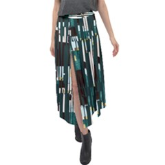 Jungle Stripe Split Maxi Skirt by JoneienLeahCollection