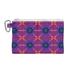 Seamless Wallpaper Pattern Ornament Canvas Cosmetic Bag (medium)
