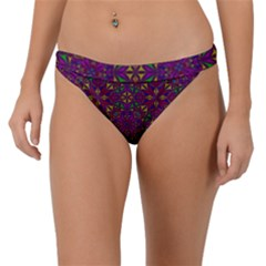 Triangle Pattern Kaleidoscope Color Band Bikini Bottom