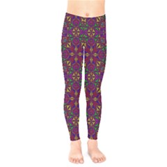 Triangle Pattern Kaleidoscope Color Kids  Legging