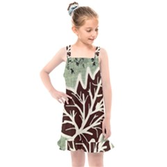 Drawing Autumn Leaves Season Kids  Overall Dress by Pakrebo