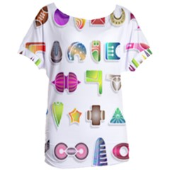 Shapes Abstract Set Pack Women s Oversized Tee