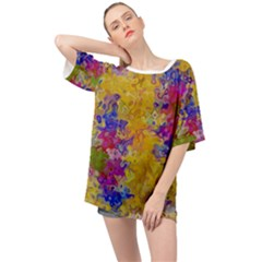 Marble Texture Abstract Abstraction Oversized Chiffon Top