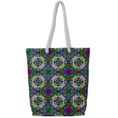 Seamless Pattern Decoration Full Print Rope Handle Tote (small)