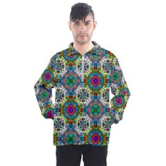 Seamless Pattern Decoration Men s Half Zip Pullover by Pakrebo