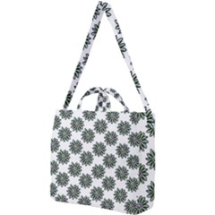 Graphic Pattern Flowers Square Shoulder Tote Bag