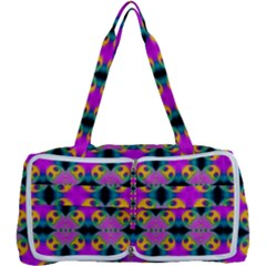 Seamless Wallpaper Pattern Ornament Pink Yellow Multi Function Bag
