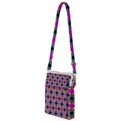 Seamless Wallpaper Pattern Ornament Pink Yellow Multi Function Travel Bag
