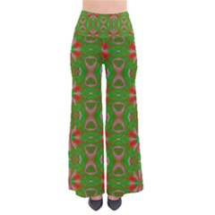 Seamless Wallpaper Digital Art Green Red So Vintage Palazzo Pants