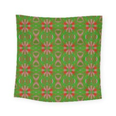 Seamless Wallpaper Digital Art Green Red Square Tapestry (small) by Pakrebo
