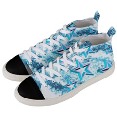Stars Background Star Shiny Men s Mid-top Canvas Sneakers by Pakrebo