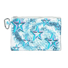 Stars Background Star Shiny Canvas Cosmetic Bag (large)
