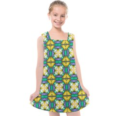 Seamless Wallpaper Pattern Symmetry Kids  Cross Back Dress