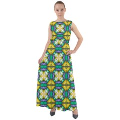 Seamless Wallpaper Pattern Symmetry Chiffon Mesh Maxi Dress