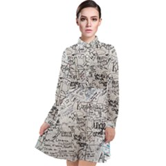 Messages Note Notitiebord Memo Long Sleeve Chiffon Shirt Dress