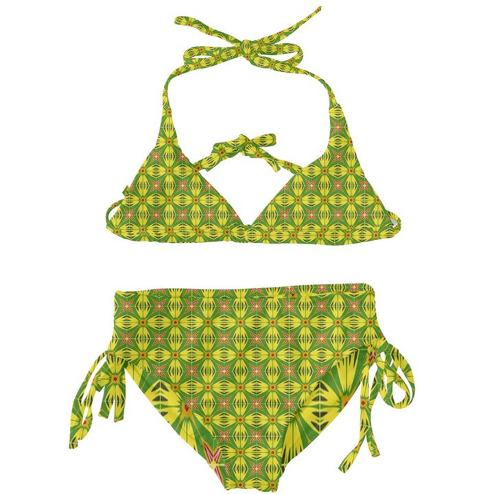 Seamless Wallpaper Pattern Ornament Kids  Classic Bikini Set