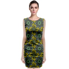 Seamless Wallpaper Digital Art Sleeveless Velvet Midi Dress