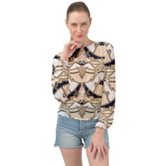 Chains Glam Pattern Banded Bottom Chiffon Top by tarastyle