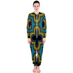 Seamless Pattern Ornament Wallpaper Onepiece Jumpsuit (ladies)