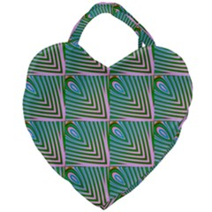 Seamless Pattern Ornament Design Giant Heart Shaped Tote
