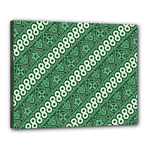 Batik Pattern Java Indonesia Canvas 20  X 16  (stretched) by Pakrebo