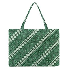 Batik Pattern Java Indonesia Zipper Medium Tote Bag by Pakrebo
