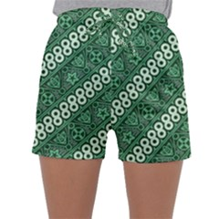 Batik Pattern Java Indonesia Sleepwear Shorts by Pakrebo