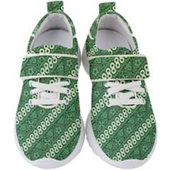 Batik Pattern Java Indonesia Kids  Velcro Strap Shoes