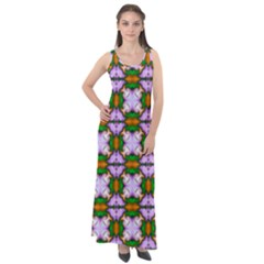 Seamless Wallpaper Digital Sleeveless Velour Maxi Dress