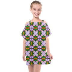 Seamless Wallpaper Digital Kids  One Piece Chiffon Dress by Pakrebo