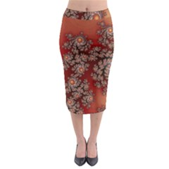 Fractal Rendering Pattern Abstract Midi Pencil Skirt