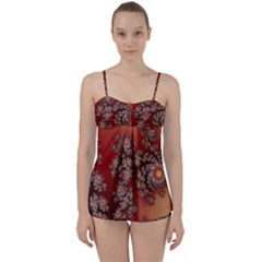 Fractal Rendering Pattern Abstract Babydoll Tankini Set