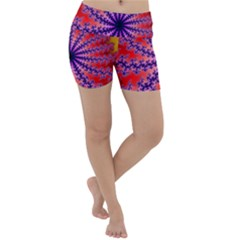 Fractal Abstract Background Spiral Lightweight Velour Yoga Shorts by Pakrebo