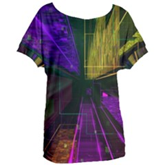 Data City Large Fiction Digital Women s Oversized Tee by Pakrebo