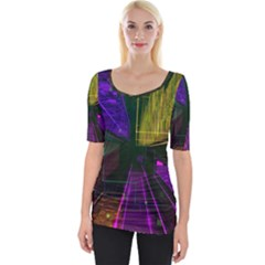 Data City Large Fiction Digital Wide Neckline Tee