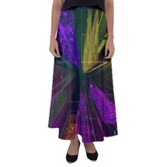 Data City Large Fiction Digital Flared Maxi Skirt