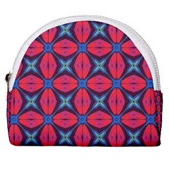 Seamless Wallpaper Digital Pattern Red Blue Horseshoe Style Canvas Pouch