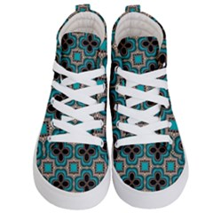 Seamless Wallpaper Pattern Ornament Pattern Kids  Hi Top Skate Sneakers