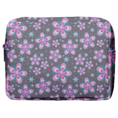 Seamless Pattern Flowers Pink Make Up Pouch (large)