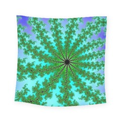 Fractal Abstract Rendering Square Tapestry (small) by Pakrebo