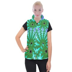Fractal Abstract Rendering Women s Button Up Vest by Pakrebo